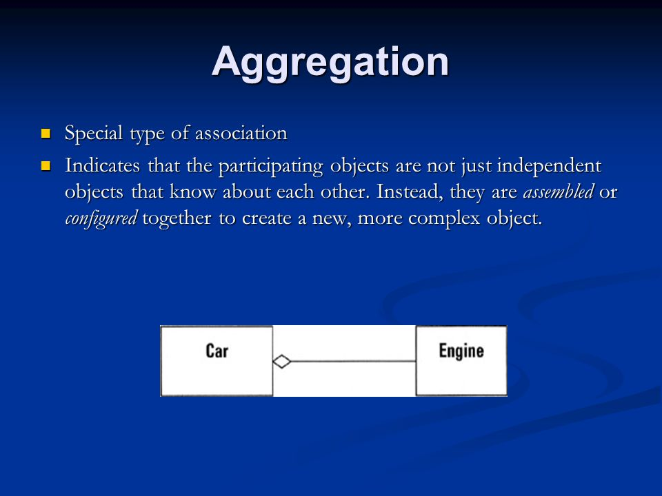 Aggregation Special type of association