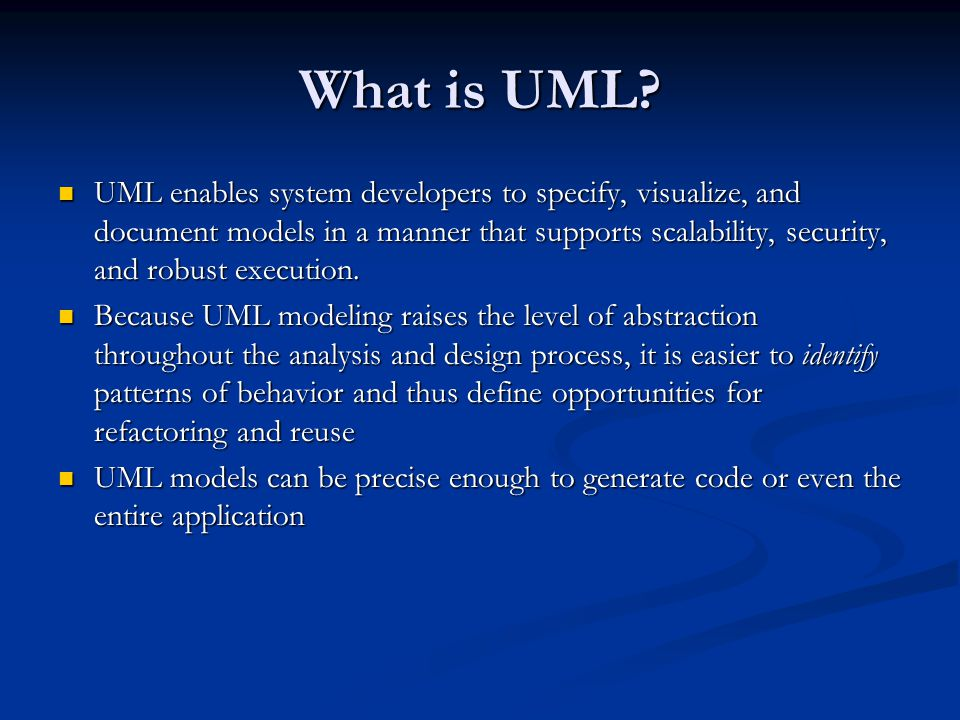 What is UML