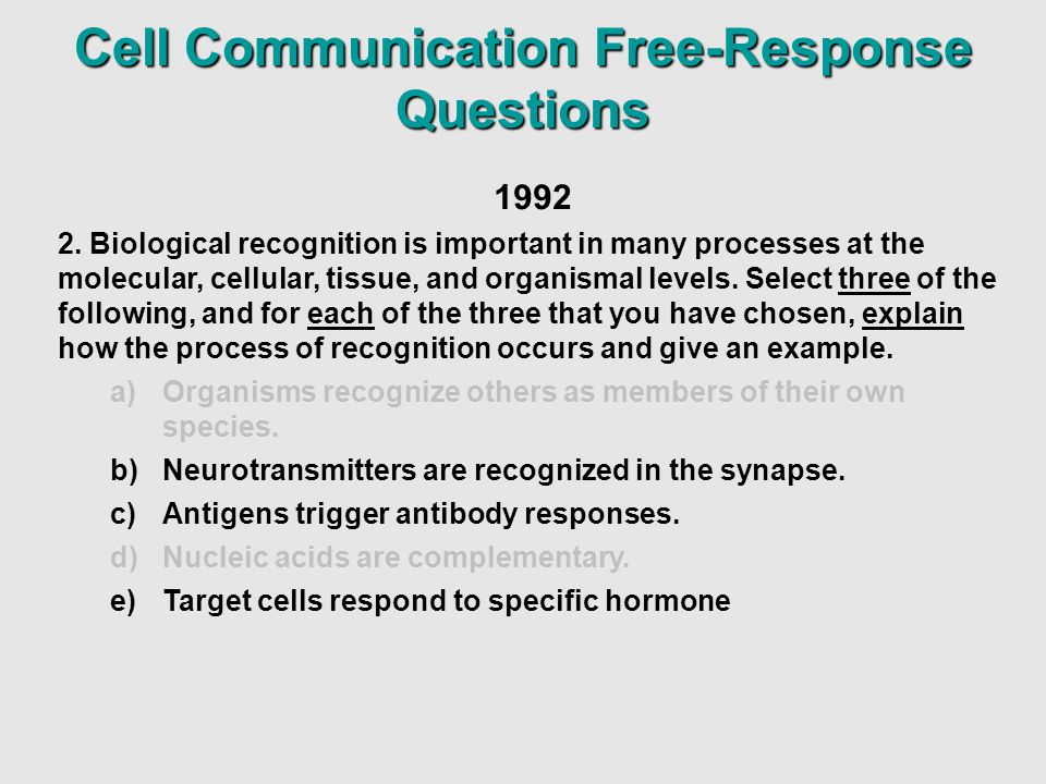cell communication questions and or essays Immune cell communication in generating antibody response against   appropriate to a particular scientific question can perform data analysis and  evaluation of  response, and apoptosis in immunity, students will write an  essay/research.