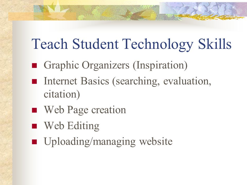 Teach Student Technology Skills