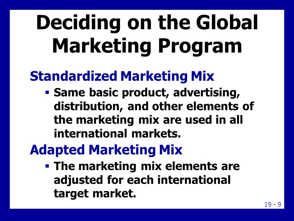 Five International Product and Promotion Strategies