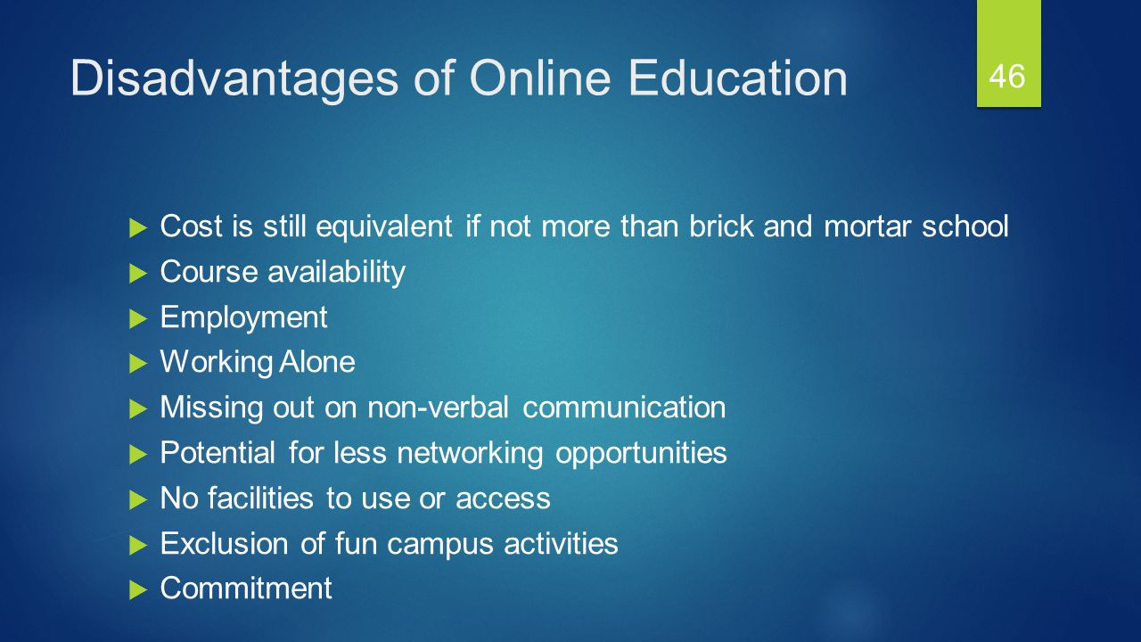 Advantages and disadvantages of online courses