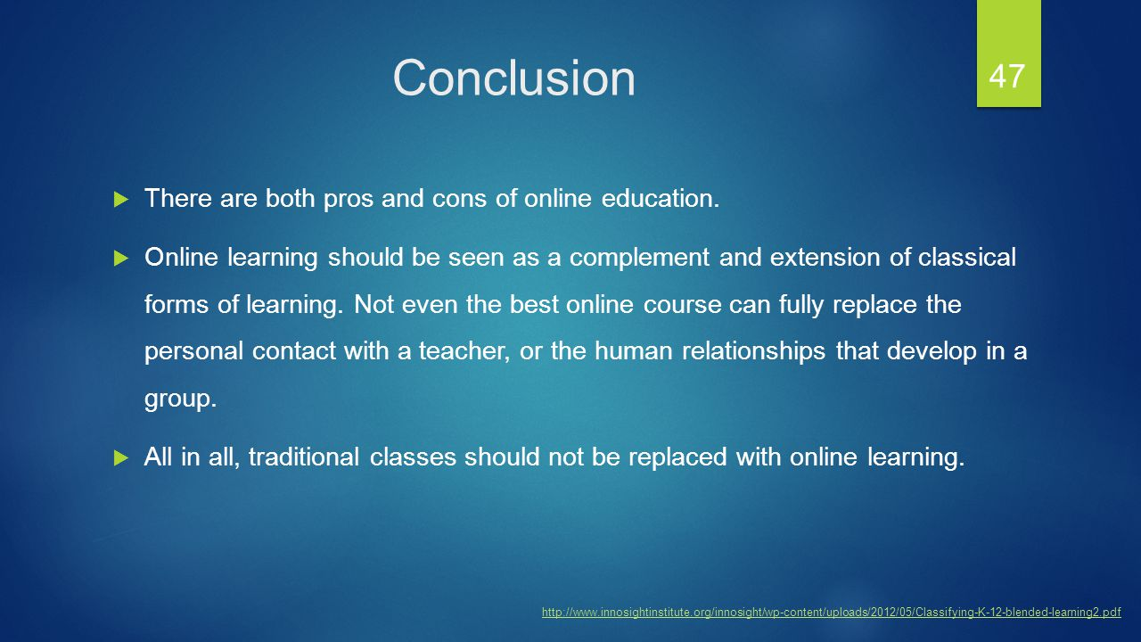 thesis statement online education