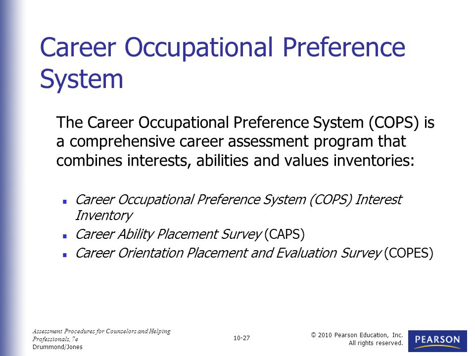 career evaluation