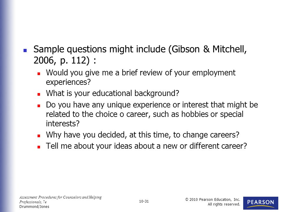 31 Sample Questions ...