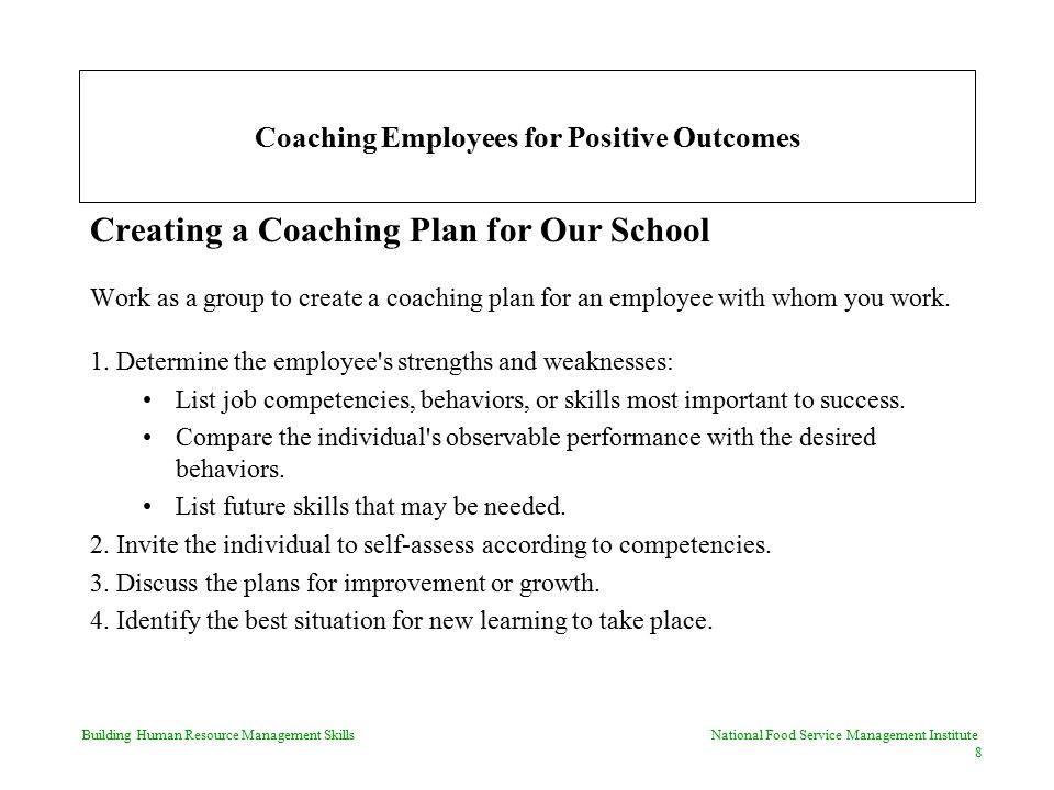 Coaching Employees for Positive Outcomes