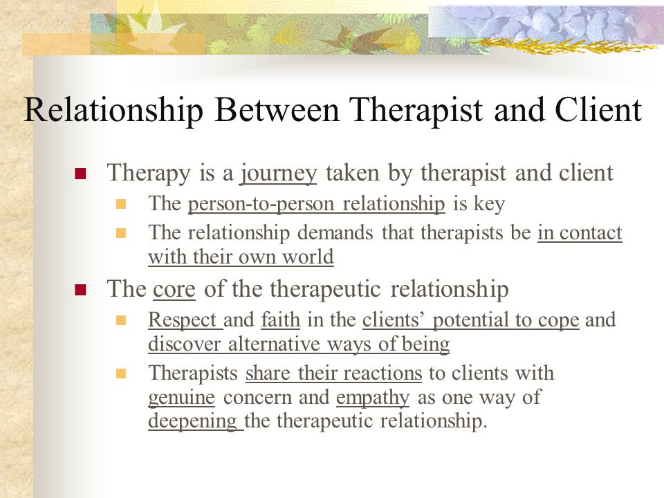 client therapist relationship existential therapy and death