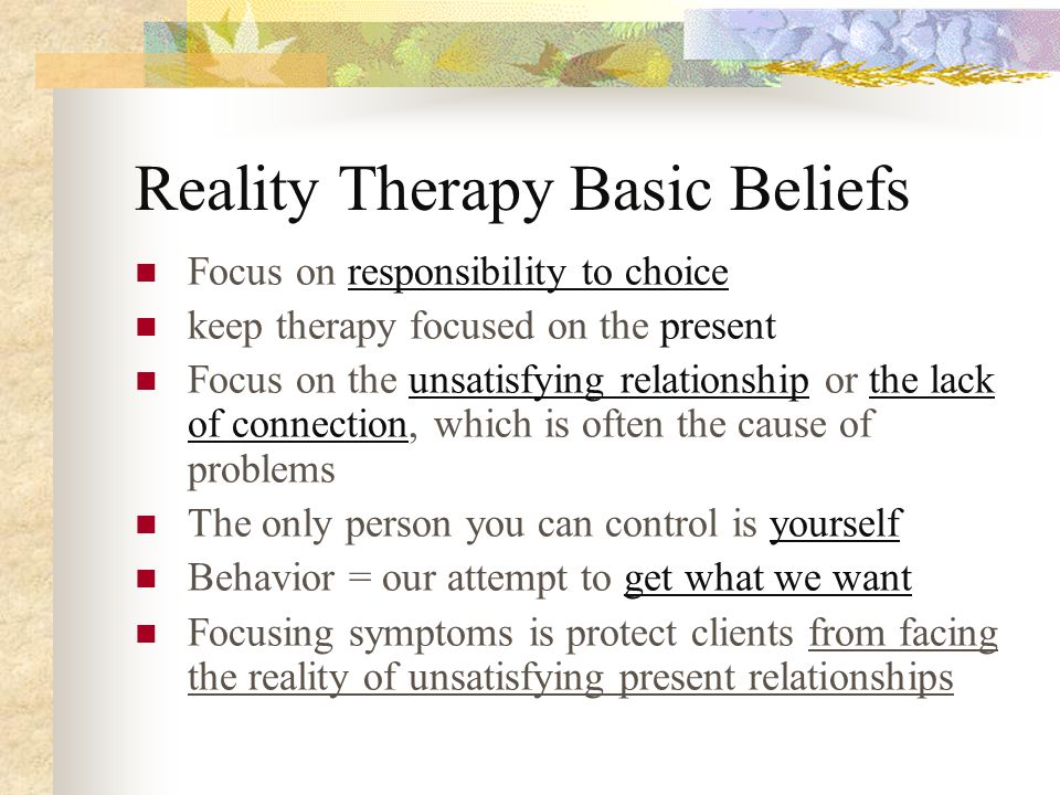 A true human need for counseling and therapy