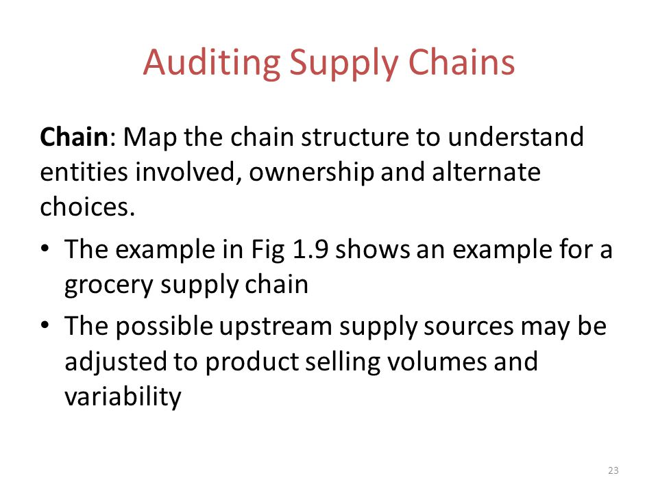 supply chain audit The mill must also meet all registration and reporting requirements for the appropriate supply chain under the approved rspo supply chain managing organisation (rspo it system or green palm) rspo scc audit report of sime darby sou 31 lavang, mpg, 18112013.