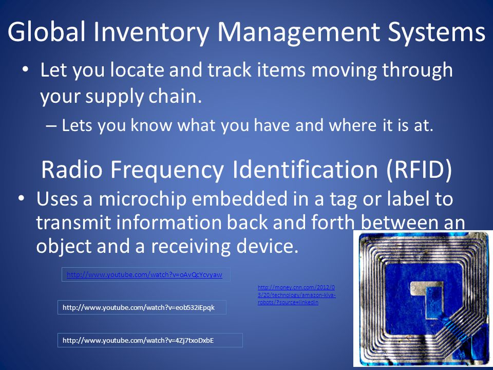 Global Inventory Management Systems