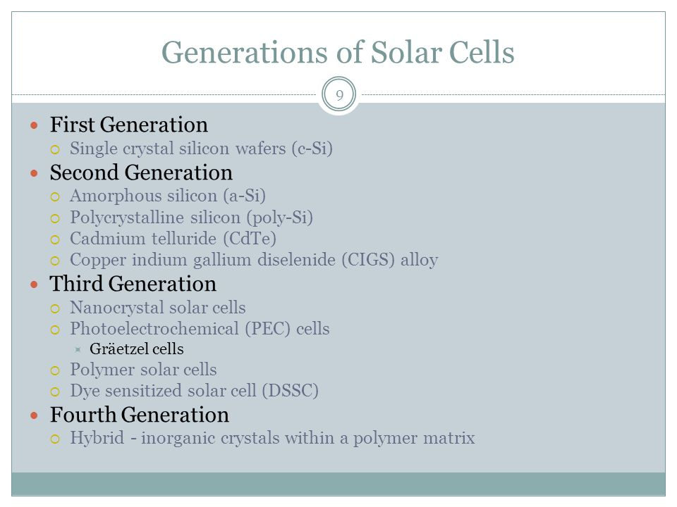 Solar Cell Technology Si Ppt Video Online Download