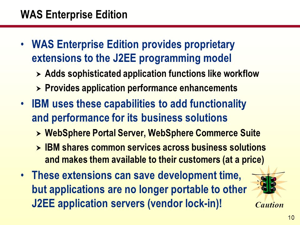 WAS Enterprise Edition