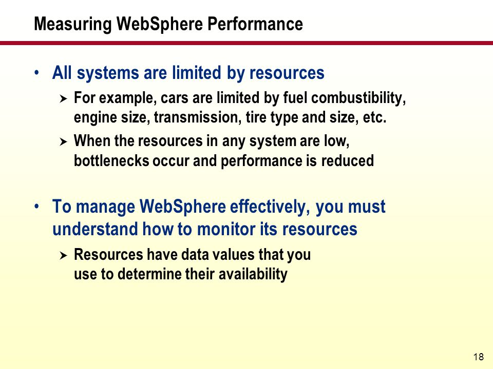 Measuring WebSphere Performance