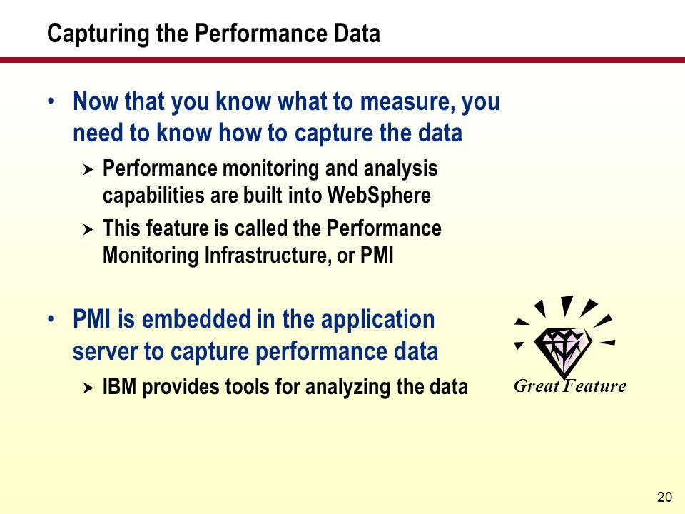 Capturing the Performance Data