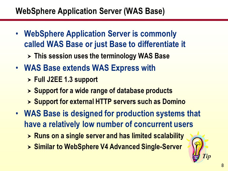 WebSphere Application Server (WAS Base)