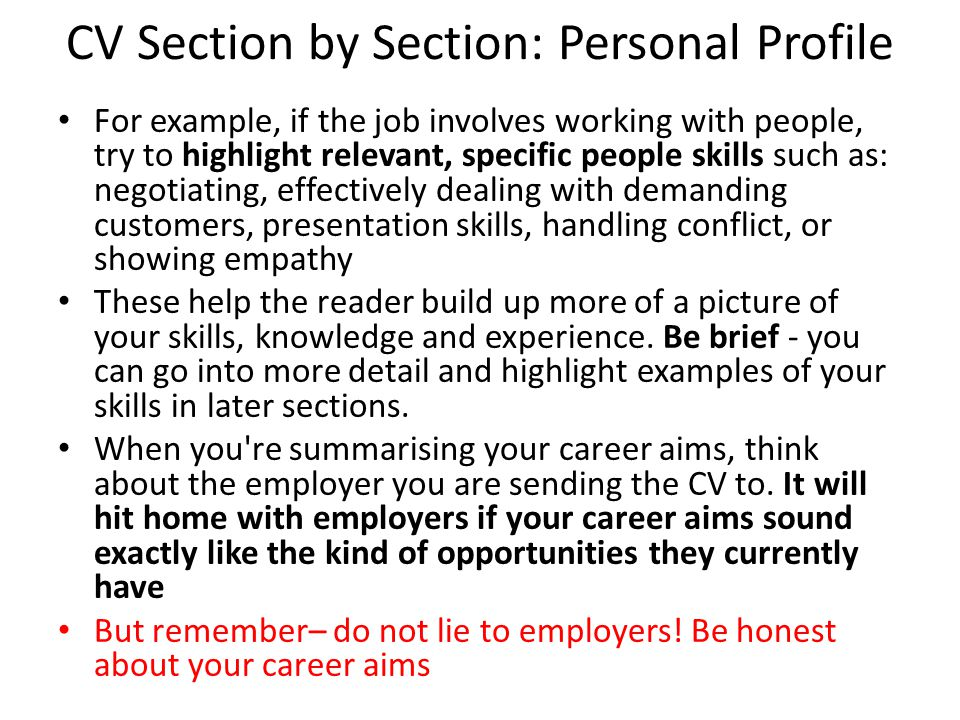 how to write a cv ppt