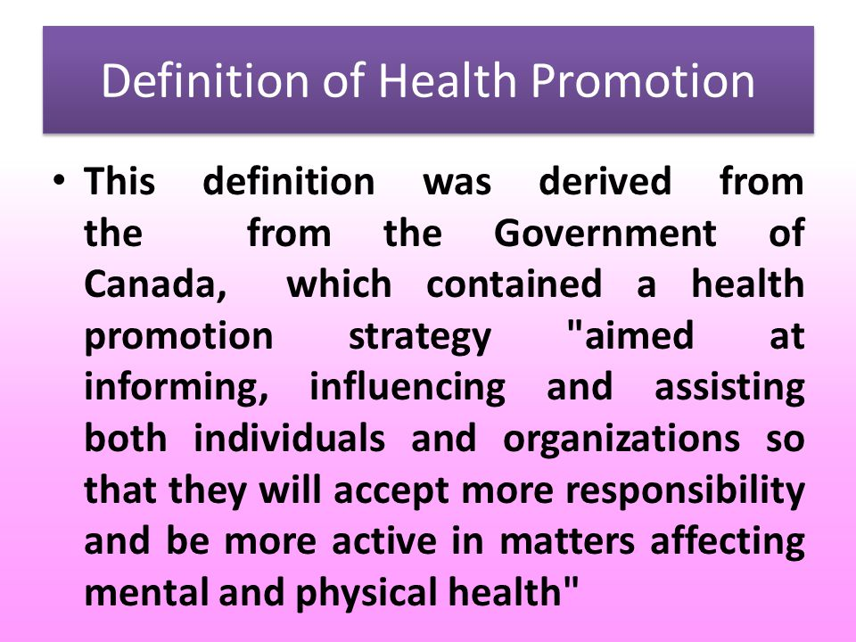 education on health promotion 2 essay