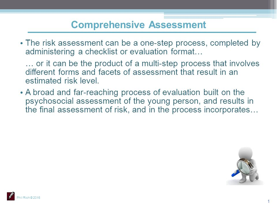 Comprehensive Assessment  Ppt Download