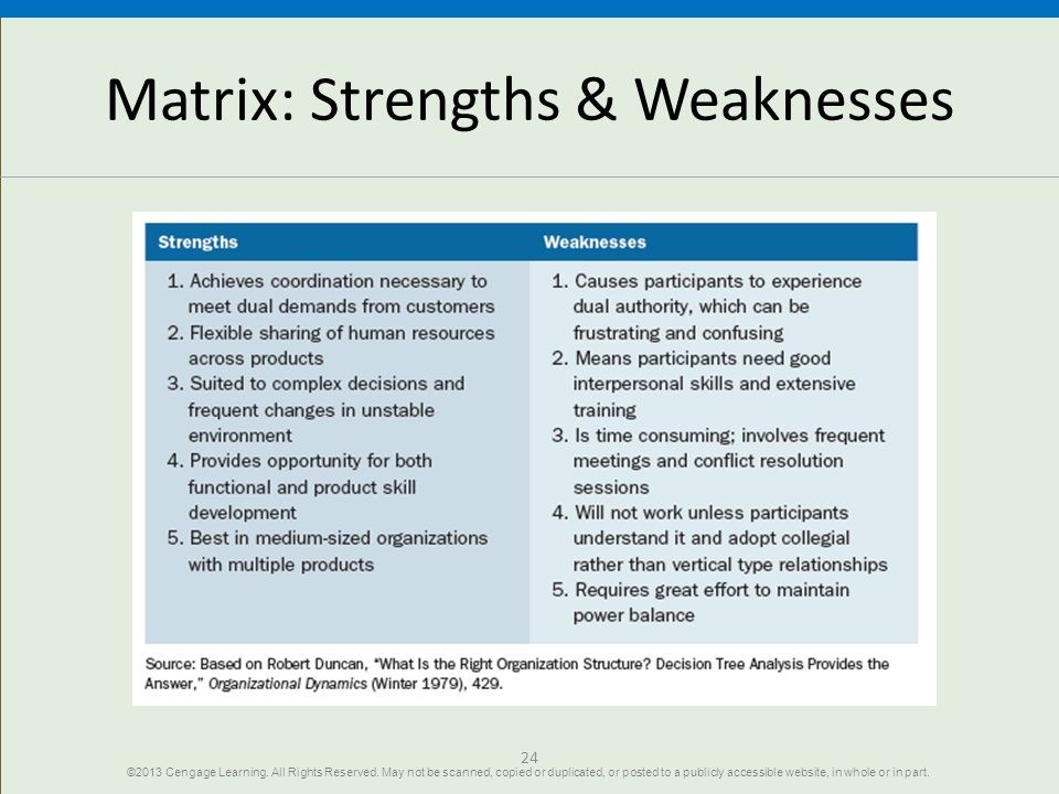 strenght and weakness of organization structure Keywords: corporate strengths/weaknesses project management competencies  company resources and capabilities  sion, vision, and values to the members  of an organization  pertaining to the company's reporting structure, planning.