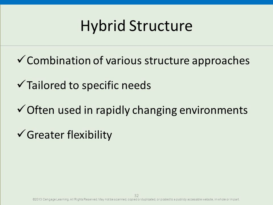 Hybrid Structure Combination of various structure approaches