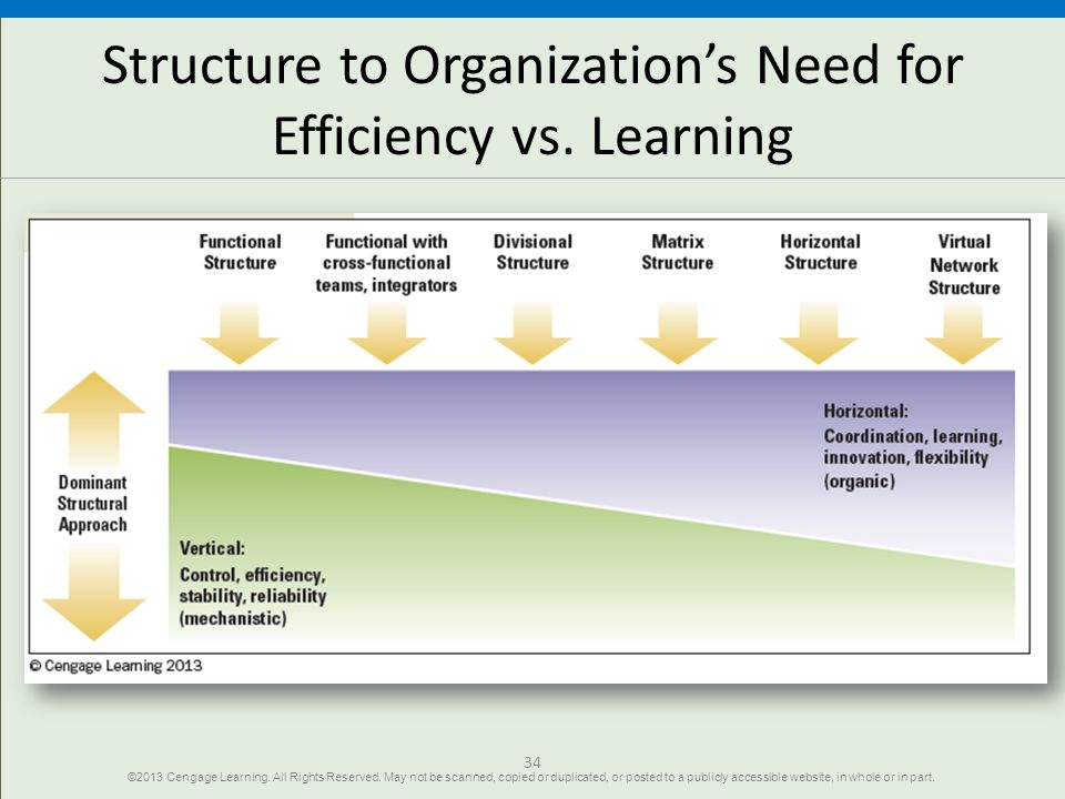 Structure to Organization's Need for Efficiency vs. Learning