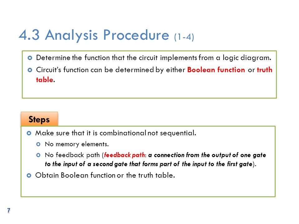 4.3 Analysis Procedure (1-4)