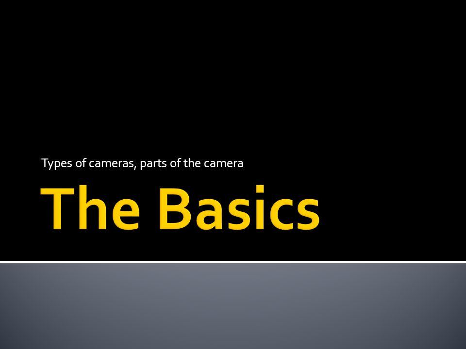 Types of cameras, parts of the camera