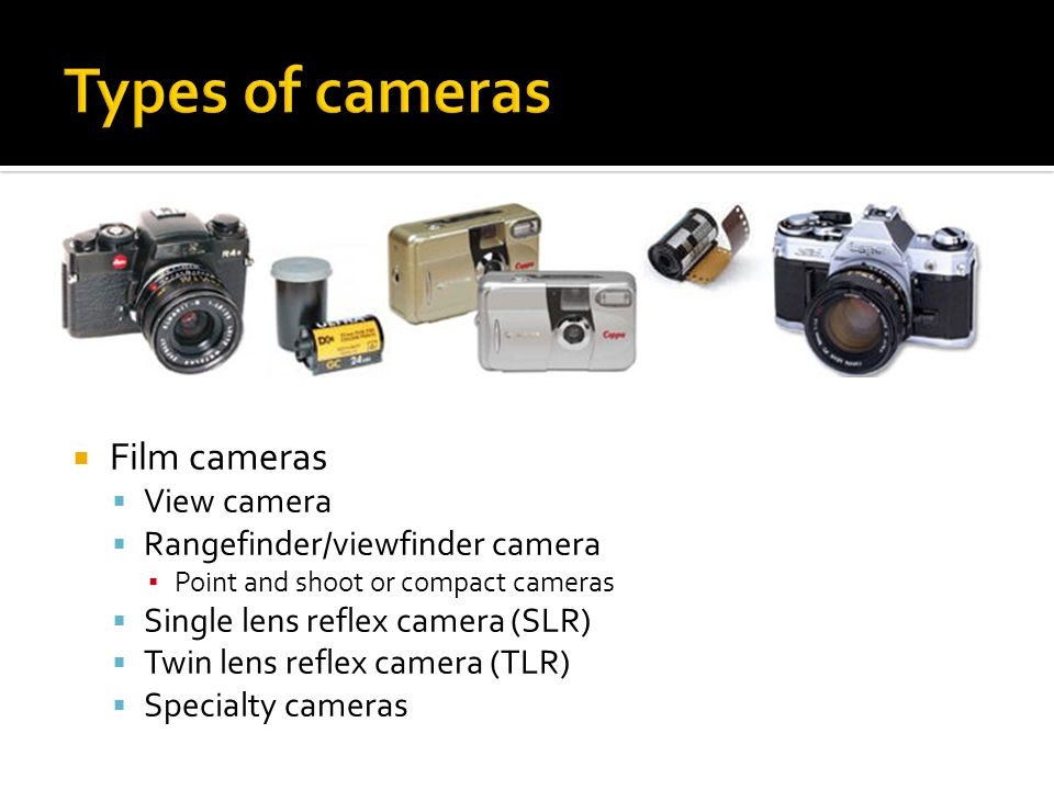 Types of cameras Film cameras View camera