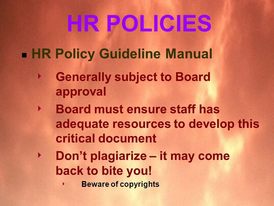 what is hr policy manual