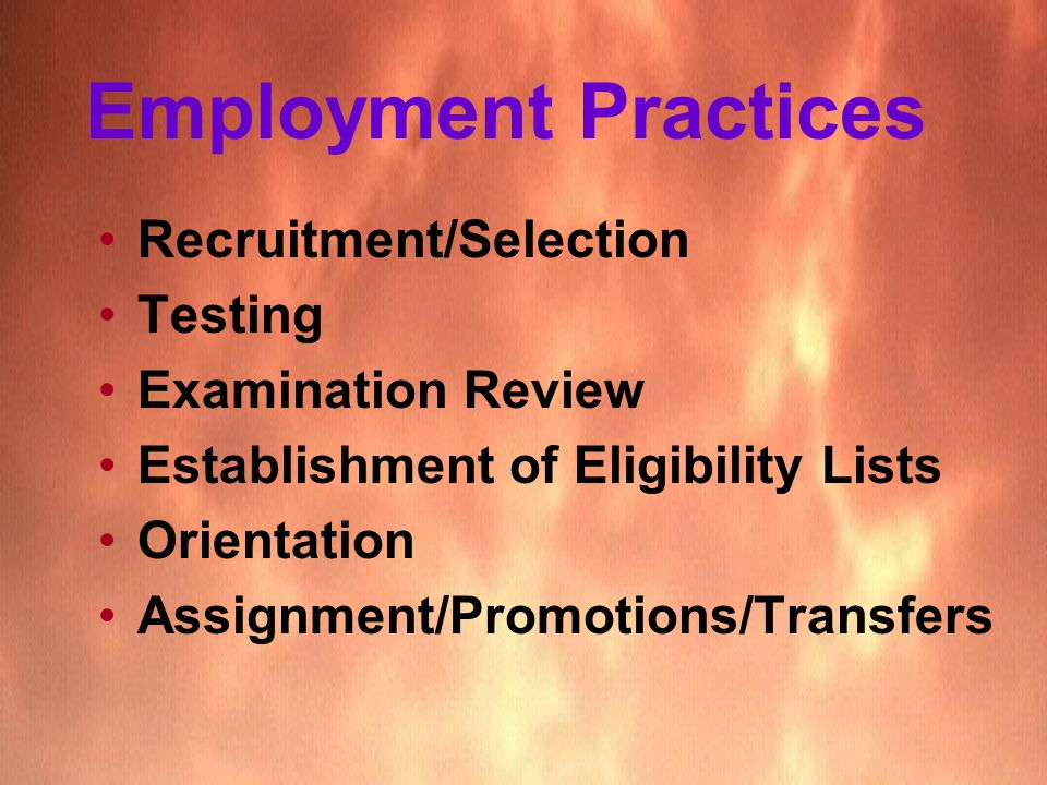 Assignment employment and good hr practices