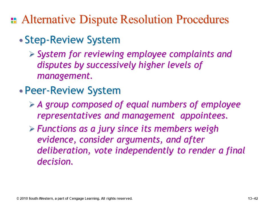 alternatve dispute resolution A wide variety of processes, practices, and techniques fall within the definition of alternative dispute resolution arbitration and mediation are the best known.