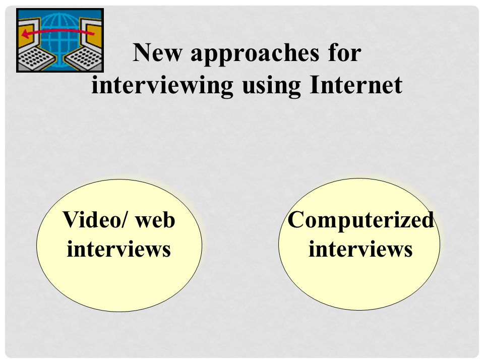 New approaches for interviewing using Internet Computerized interviews