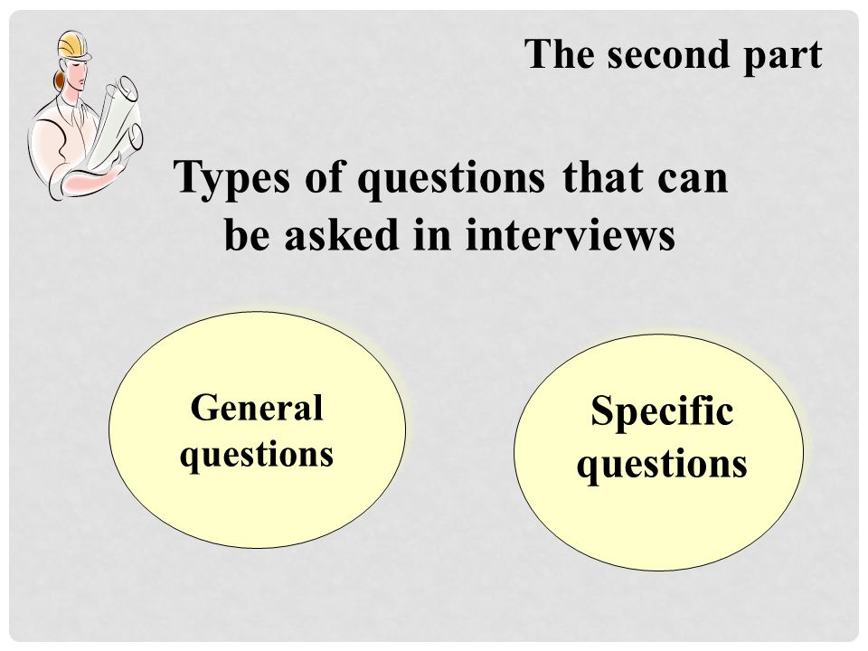 Types of questions that can be asked in interviews