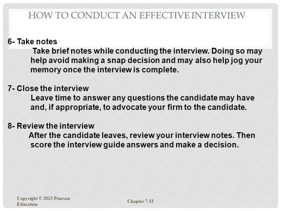 How to Conduct an Effective Interview