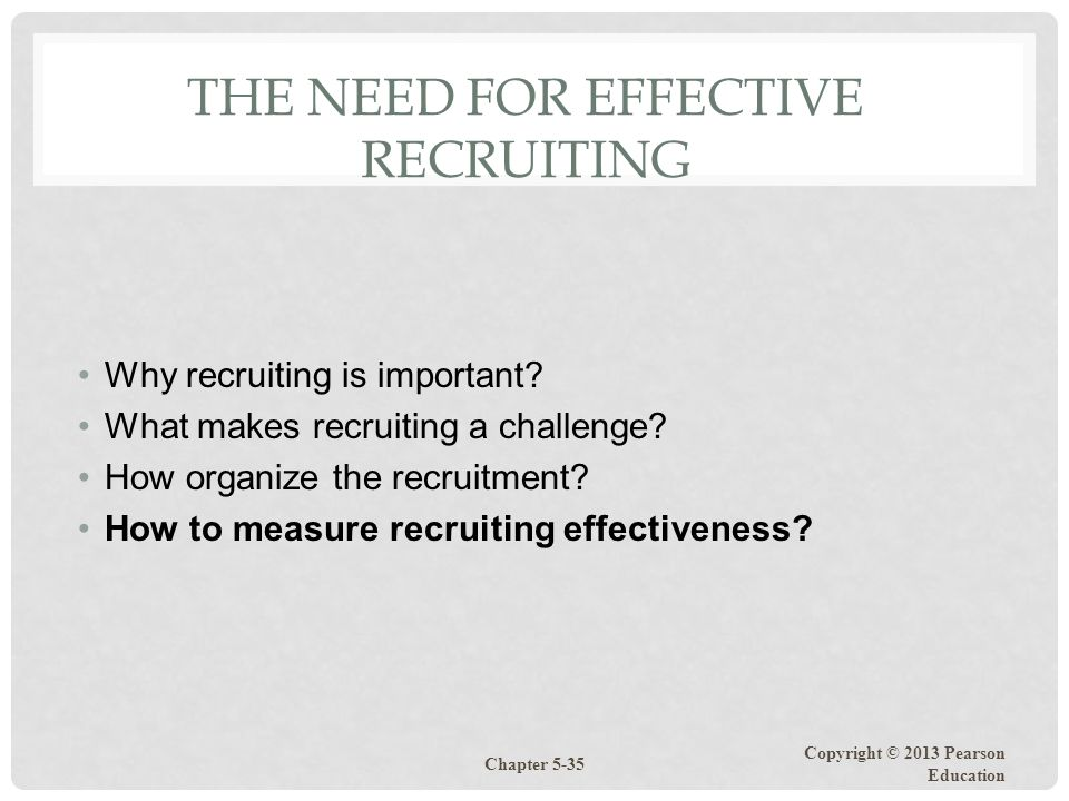 The Need for Effective Recruiting