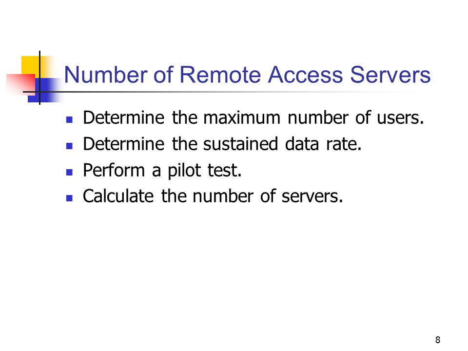 Number of Remote Access Servers