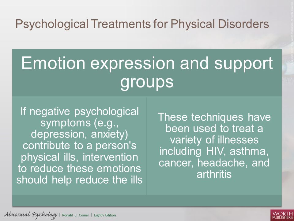 the association of anxiety disorders to emotional disorders Emotional disorders information including symptoms, diagnosis, misdiagnosis, treatment, causes, patient stories, videos, forums, prevention, and prognosis.