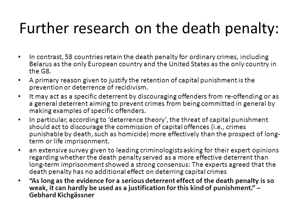 concerning the death penalty A botched execution in oklahoma reignited the death penalty debate in america here, we've answered some essential questions about capital punishment.