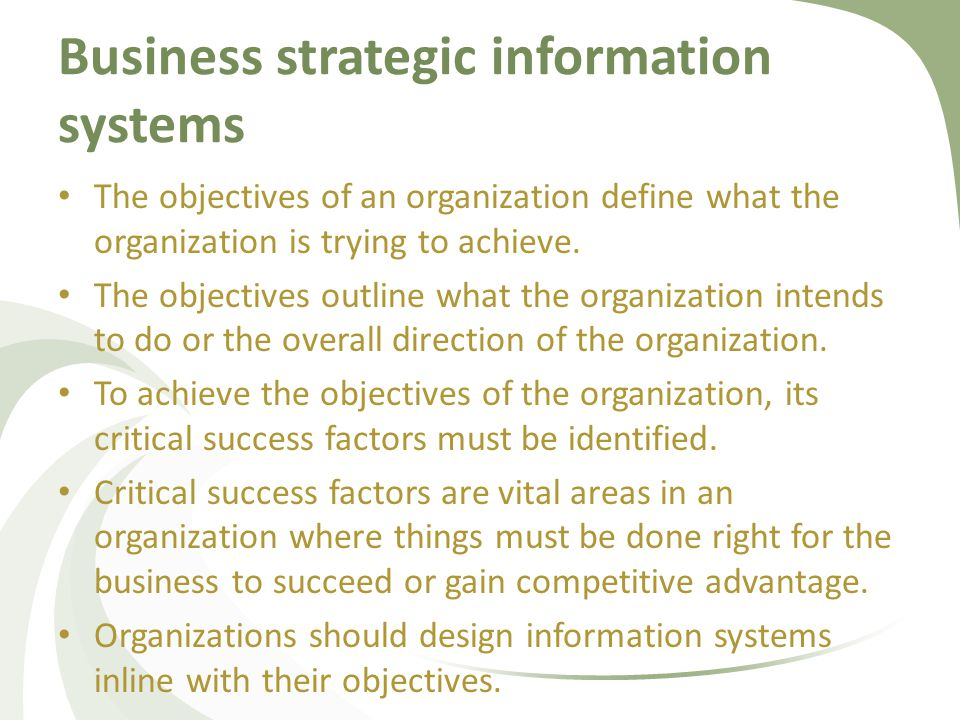 Six Strategic Business Objectives