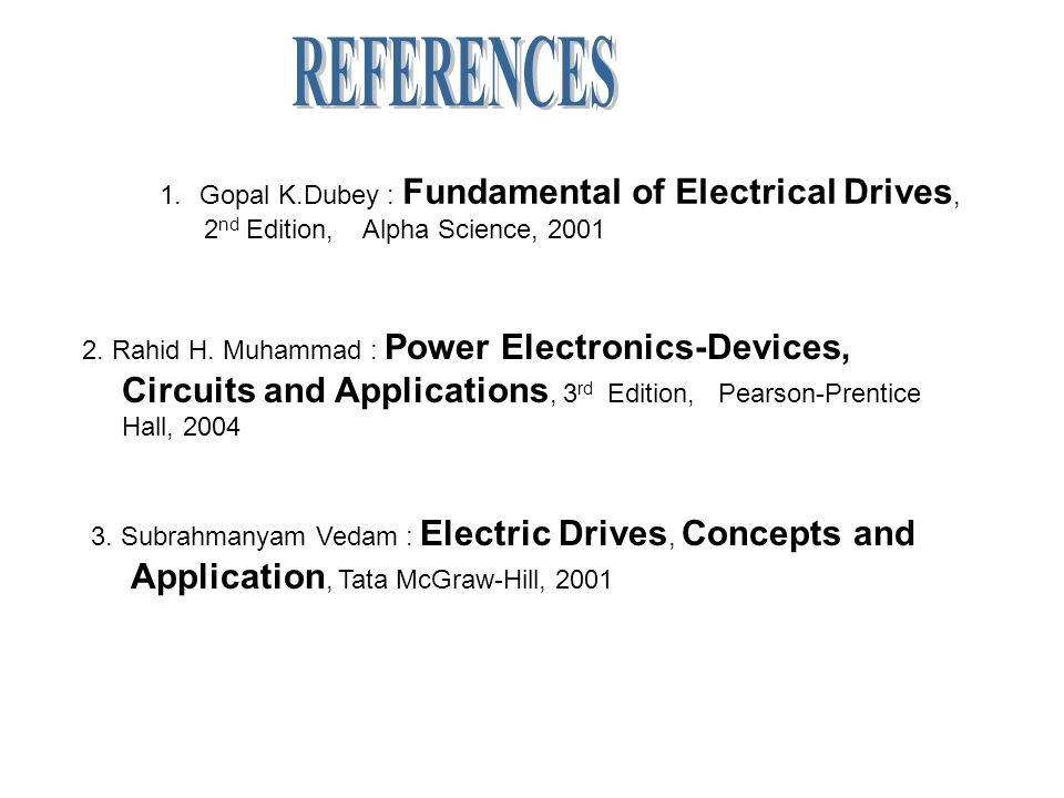 Electric drives by vedam subrahmanyam