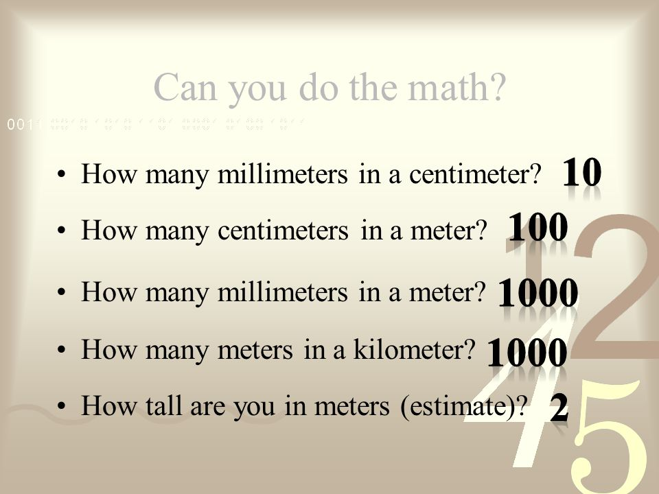 How Long Is A Meter : Medical math powerpoint with matching listening guide is