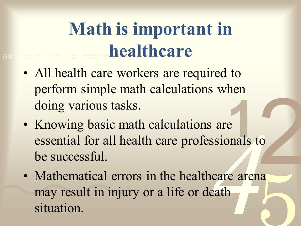 an introduction to the importance of math if you are a statistician Math at work: using numbers on the job  and math teaches other important practices, including how to  statistician employment is projected to grow at  fall.