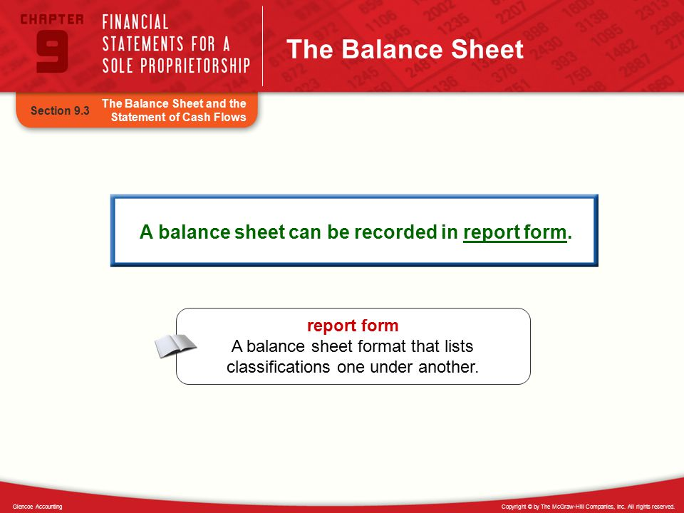 A Balance Sheet Can Be Recorded In Report Form.
