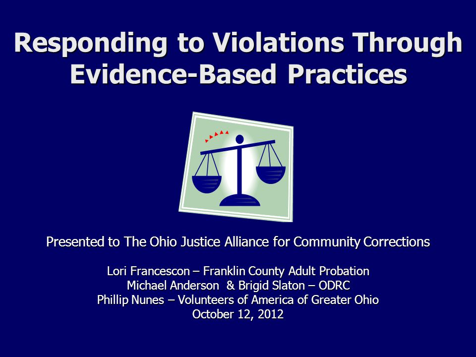 Responding To Violations Through Evidence Based Practices Ppt