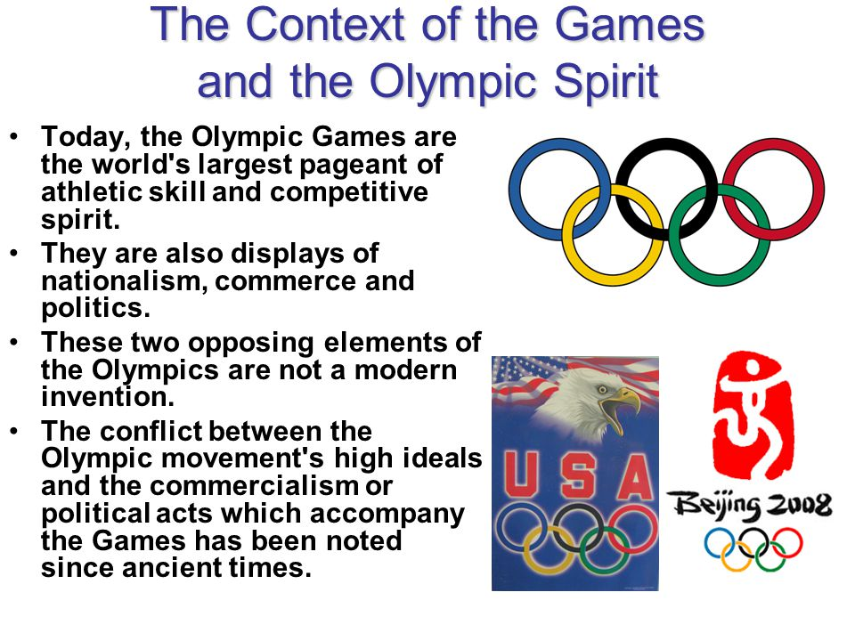 ancient olympic games and competitive sport The ancient greeks were known for their competitive spirit and the various  the  feasts included sports games that have over time become traditional and were.