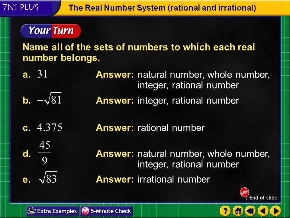 7n1 plus the real number system rational and irrational ppt download. Black Bedroom Furniture Sets. Home Design Ideas