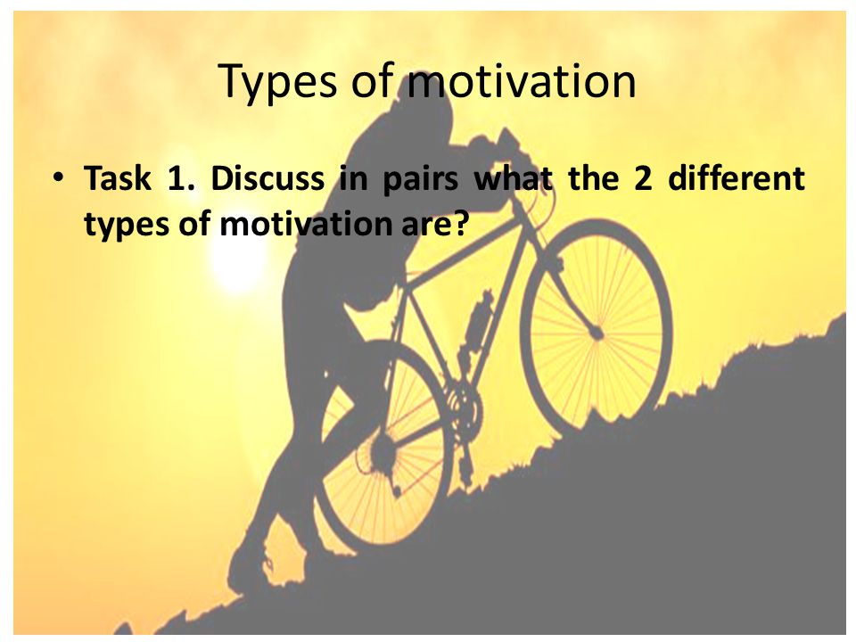 the seven types of motivation There are two primary types of motivation - intrinsic motivation and extrinsic motivation.