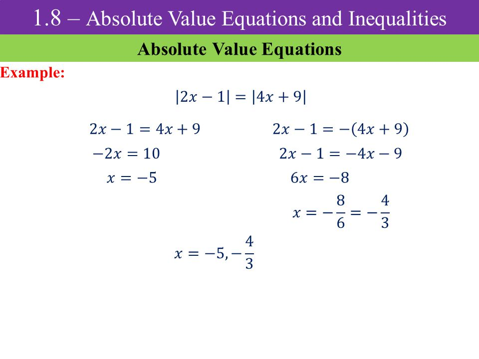 Absolute Value Properties Ppt