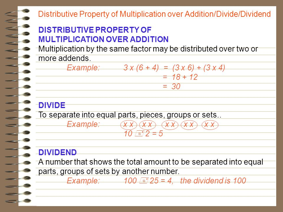 best solutions of distributive property multiplication over ...