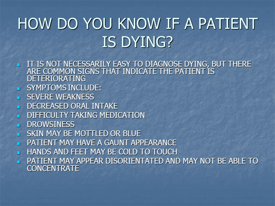 THE DYING PATIENT AND LAST OFFICES - ppt video online download Non Verbal Communication Signs